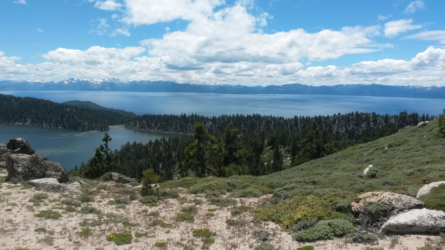 Marlette Lake looking over Lake Tahoe, pretty spectacular!