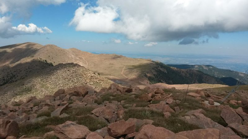 Standing atop Almagre Mountain in Colorado Springs. Well above treeline at 12,300'.