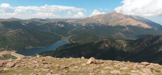 The of Pike's Peak from the South as Standing on Almagre Peak at 12,300'
