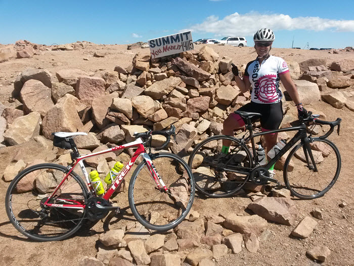 We summited Pikes Peak by bike