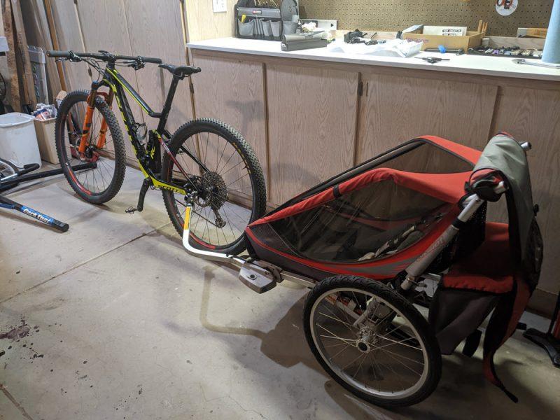Bike trailer is ready