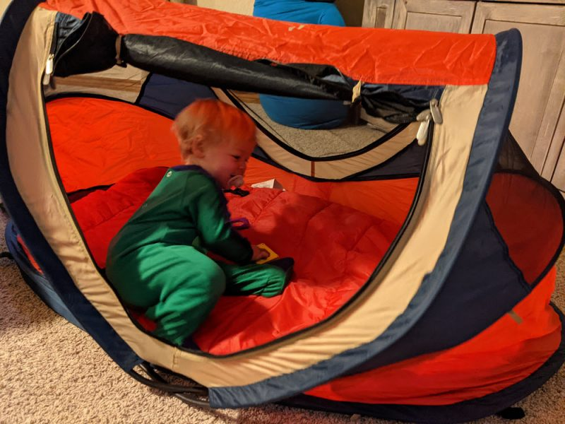 Her own Peapod tent