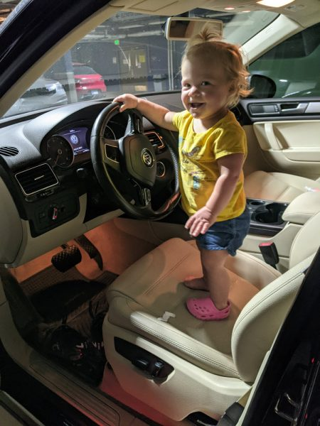 Already learning to drive