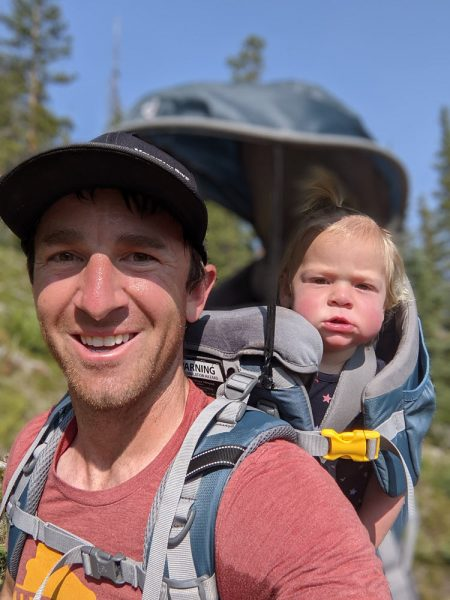 Hiking with dad
