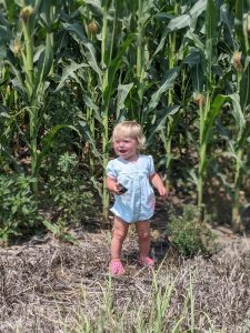 Her first introduction to Nebraska corn